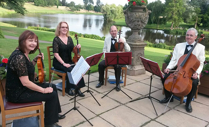 Oberon String Quartet at Brocket Hall Golf Club
